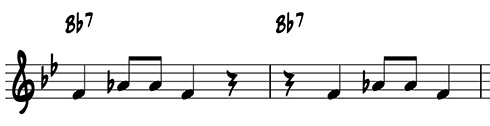 Variation by beat displacement
