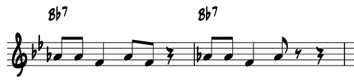 Variation by rhythmic subtraction